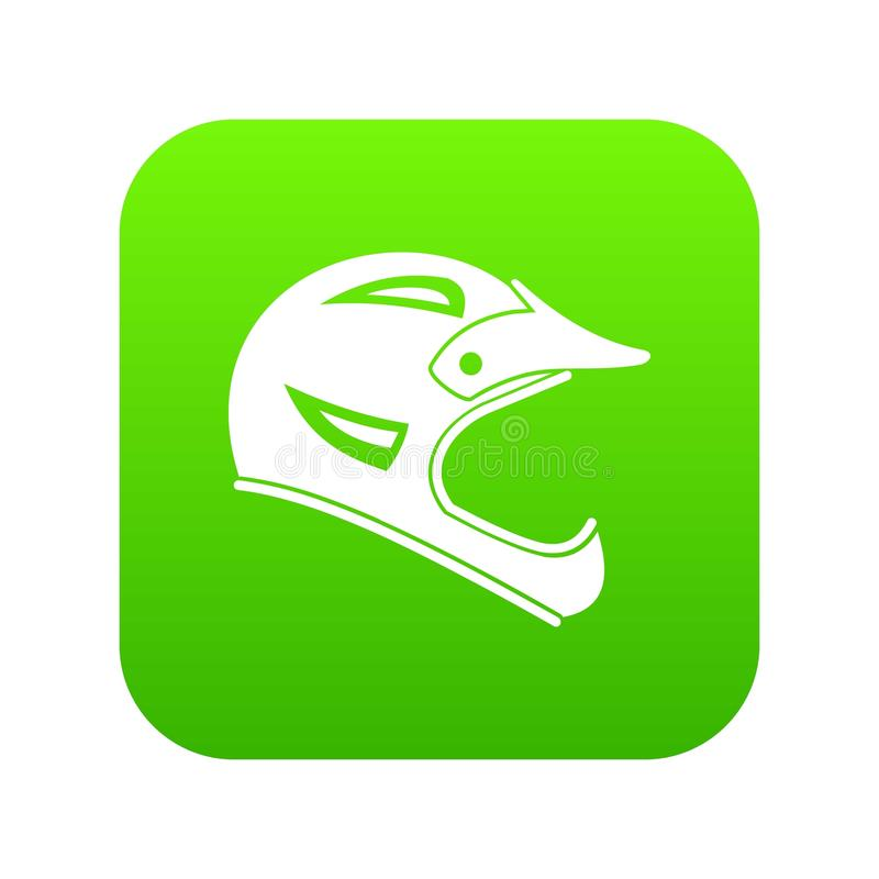 Vert numérique d'icône de casque de bicyclette illustration libre de droits