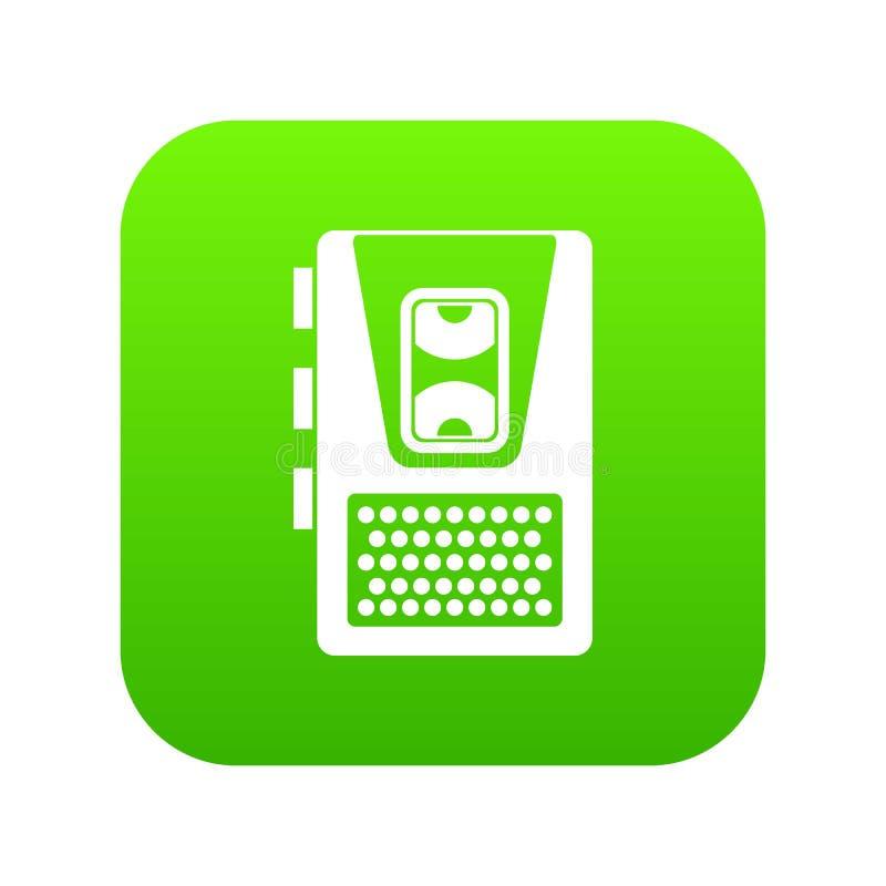 Vert numérique d'icône de dictaphone illustration libre de droits