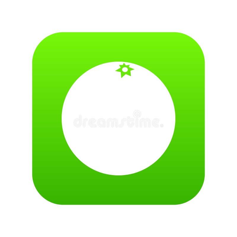 Vert numérique d'icône de mandarine illustration de vecteur