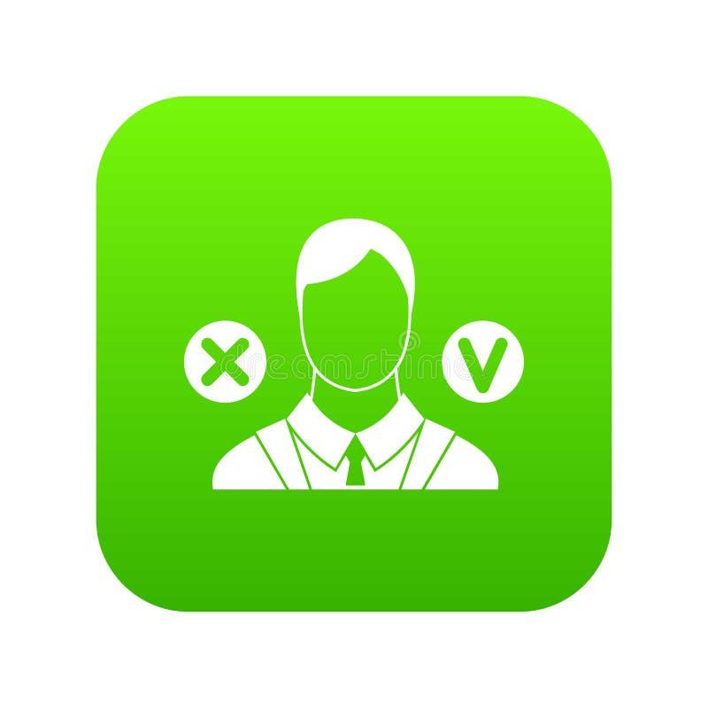 Vert numérique d'icône de sélection illustration libre de droits