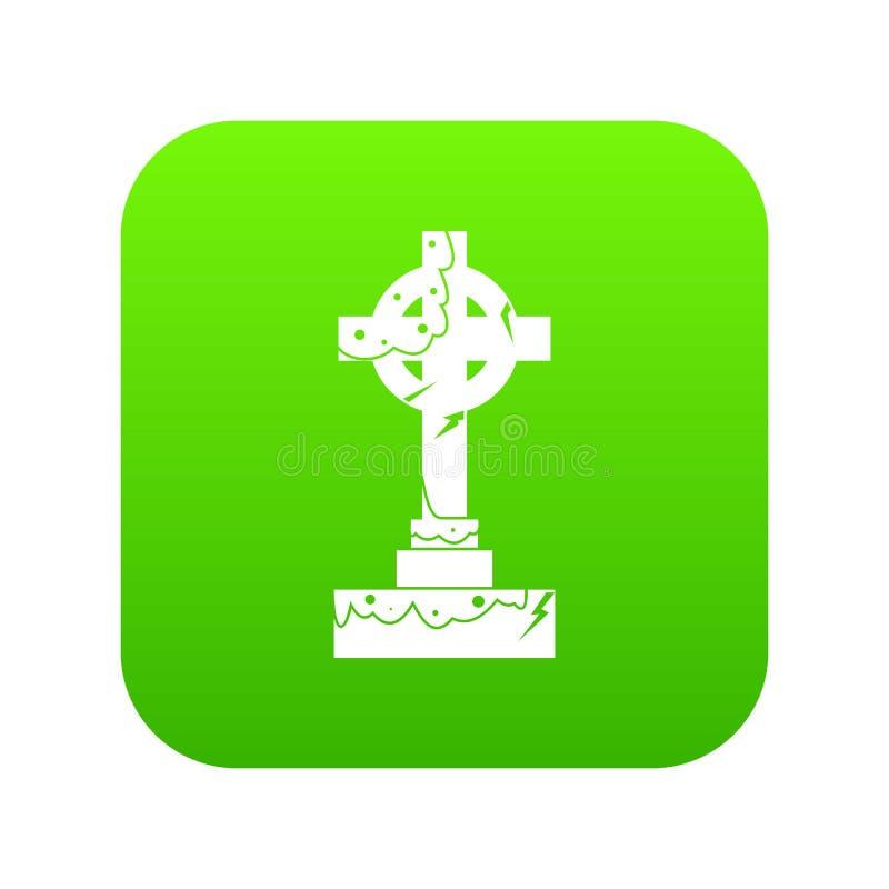 Vert numérique d'icône irlandaise de croix celtique illustration libre de droits
