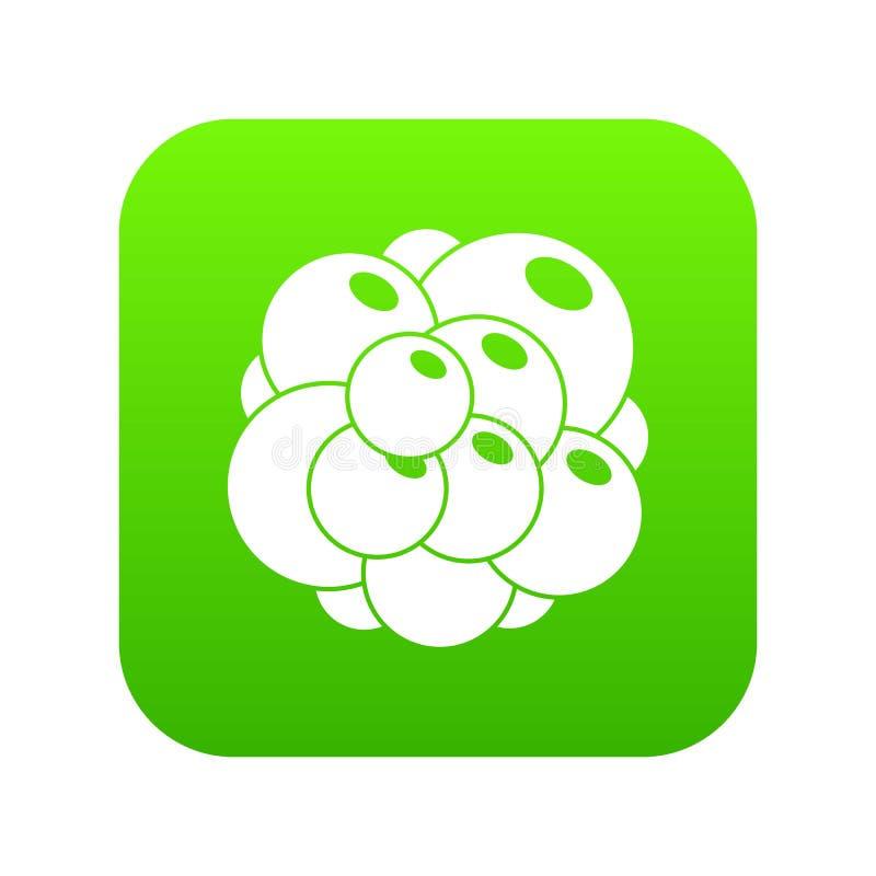 Vert numérique d'icône d'ovaire illustration de vecteur