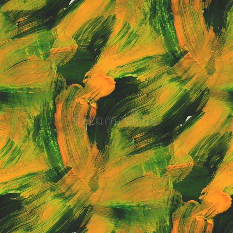 Vert sans couture de style de photo de papier peint, jaune illustration de vecteur