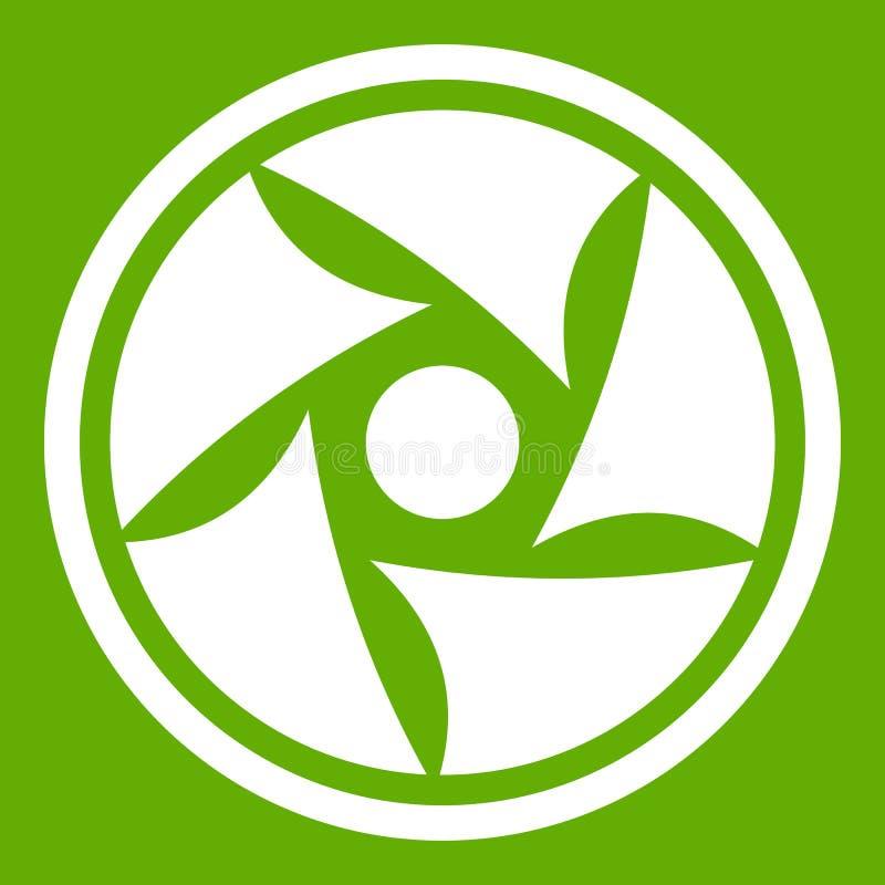 Vert visuel d'icône de lentille illustration stock