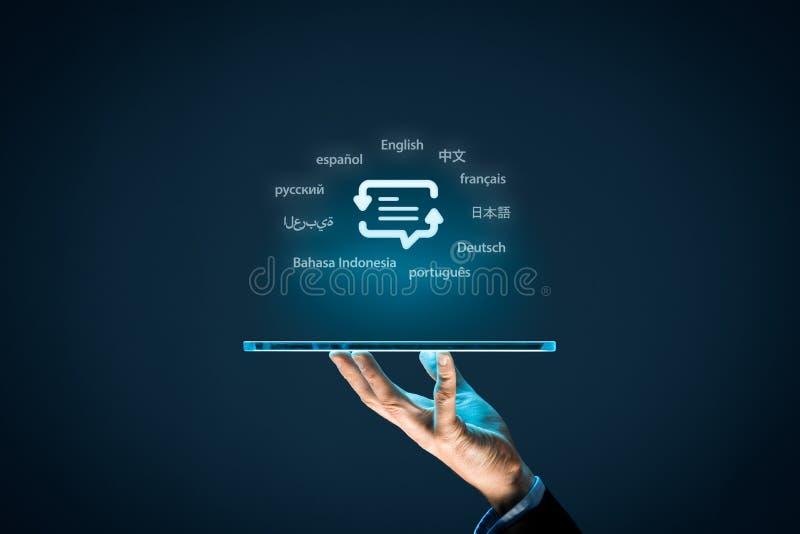 Vertalersapp concept stock afbeeldingen