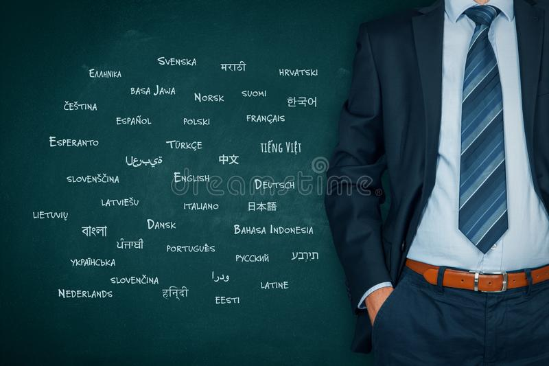 Vertalersberoeps en taalconcept royalty-vrije stock fotografie