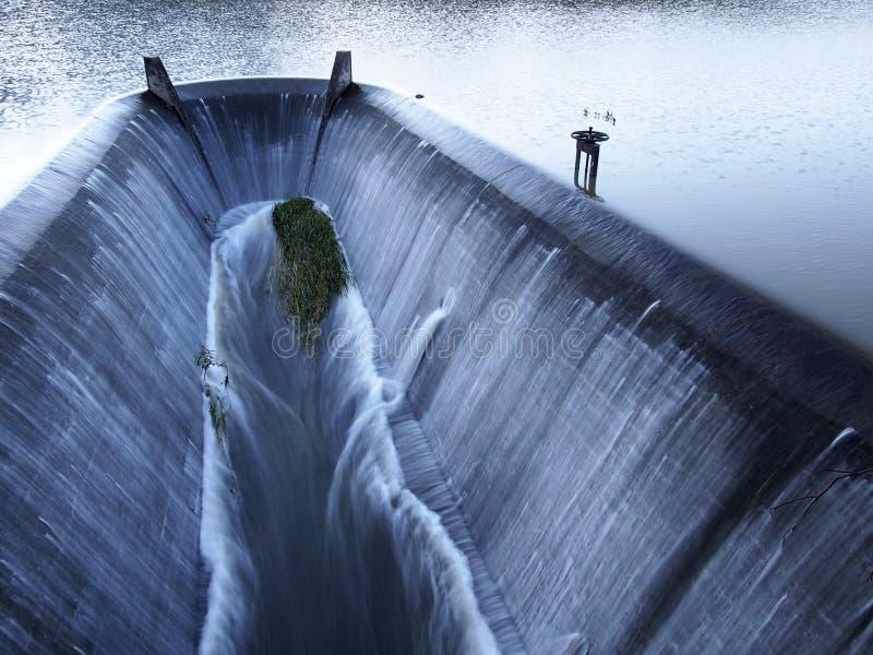 Vertedero del tratamiento de aguas imagen de archivo libre de regalías