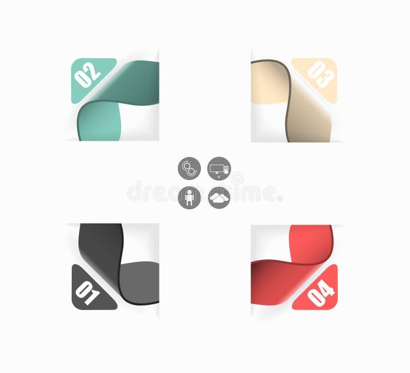 Vertegenwoordiging van uw gegevens in 4 stappen stock illustratie