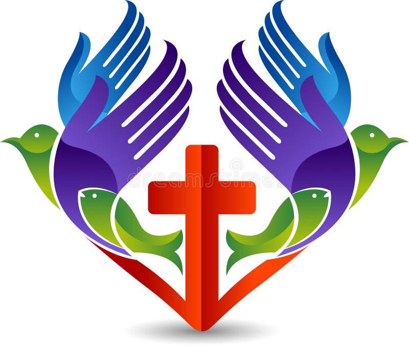 Vertegenwoordigt christelijk liefdeembleem vector illustratie
