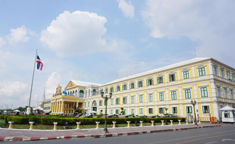 Verteidigungsministerium Gebäude in Bangkok lizenzfreie stockfotos