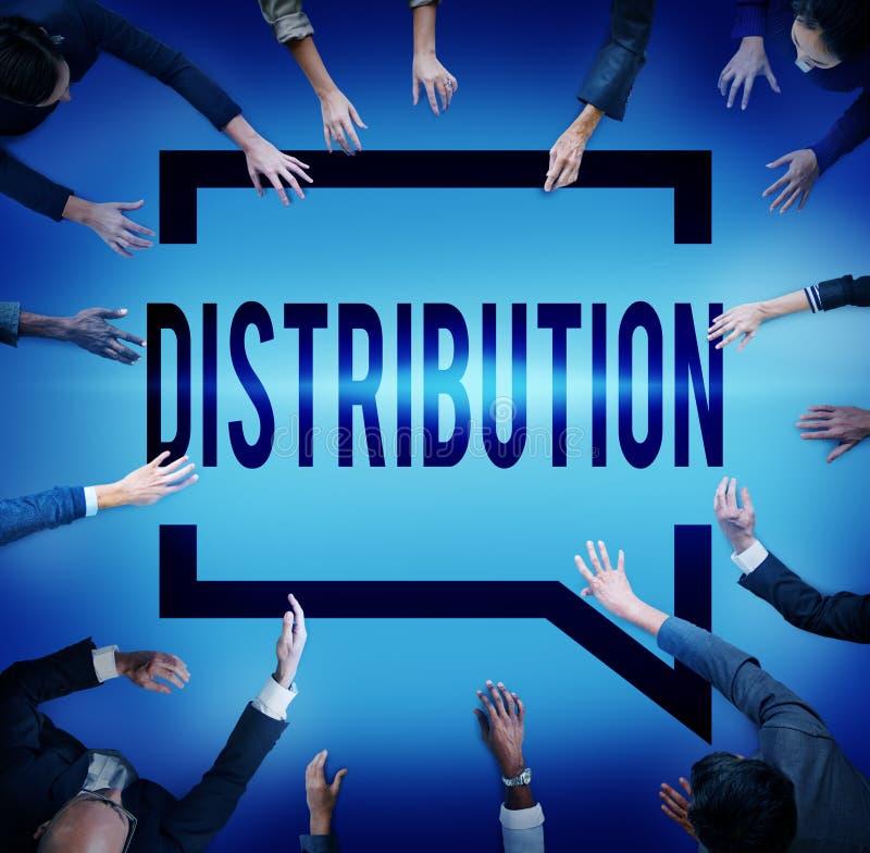 Verteilungs-Verkaufs-Marketing-Verteiler-Strategie-Konzept stockfotos