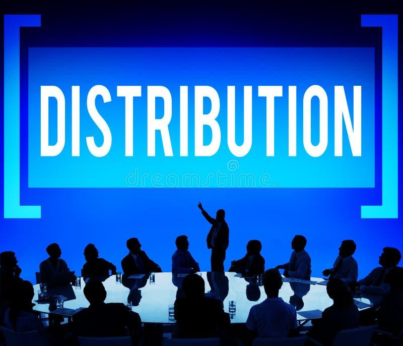 Verteilungs-Verkaufs-Marketing-Verteiler-Strategie-Konzept stockbild