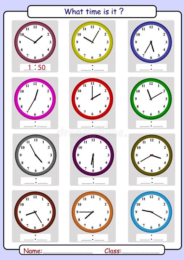 Vertellend de tijd, trek de tijd royalty-vrije illustratie
