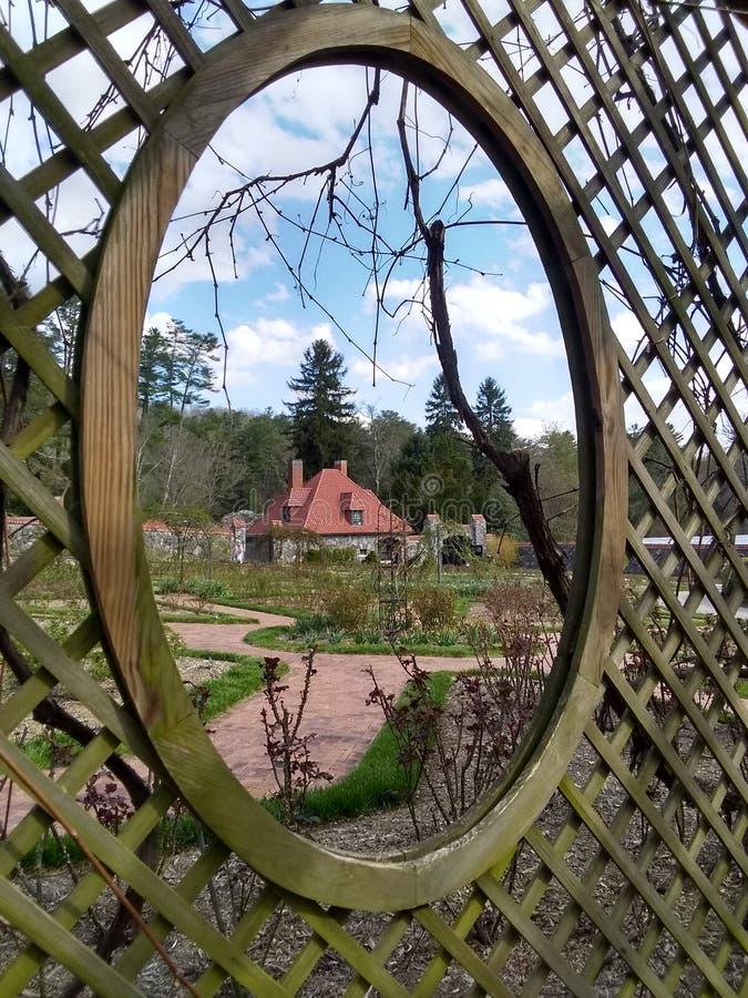 Vertente quadro do jardim fotografia de stock