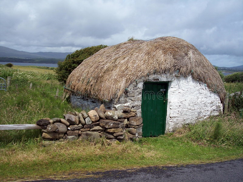 Vertente Thatched, Donegal, Ireland fotos de stock royalty free