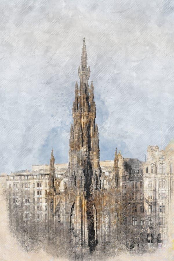 Verticaal beeld van de Balmoral-stad van de Hotelklok, Edinburgh stock fotografie