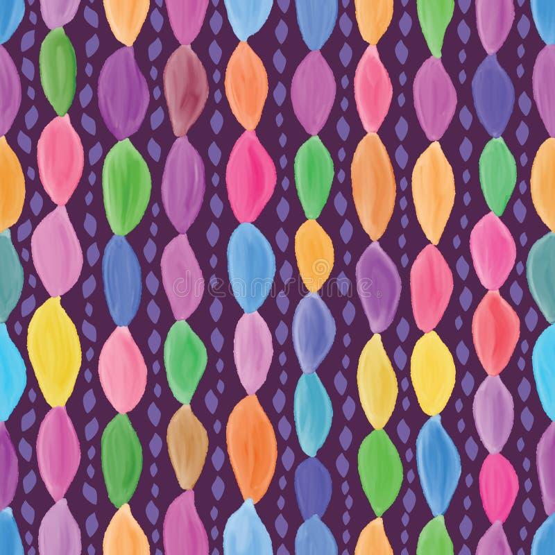 Verticaal de waterverf naadloos patroon van de bladvorm vector illustratie