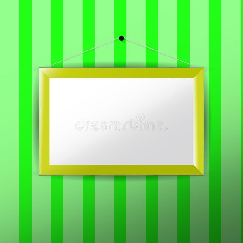 Verticaal Fotokader met document passepartout stock illustratie