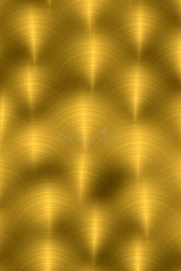 Verticaal geborsteld metaal - goud vector illustratie