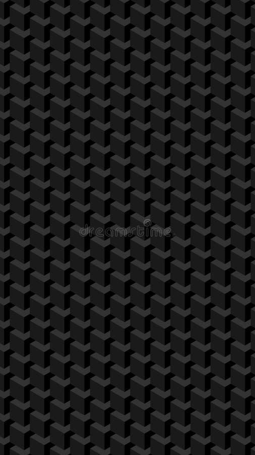 Verticaal Geometrisch Kubussenpatroon royalty-vrije illustratie