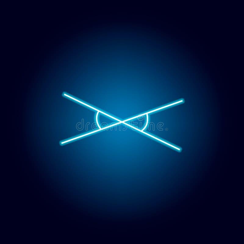 verticaal hoekenpictogram in neonstijl Geometrisch cijferelement voor mobiel concept en Web apps Dun lijnpictogram voor websiteon vector illustratie