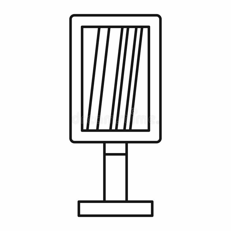 Verticaal leeg aanplakbordpictogram, overzichtsstijl royalty-vrije illustratie