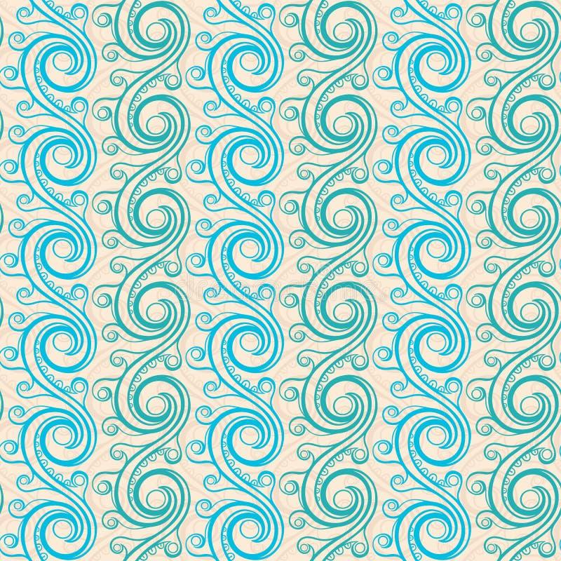 Verticaal patroon met wervelingen stock illustratie