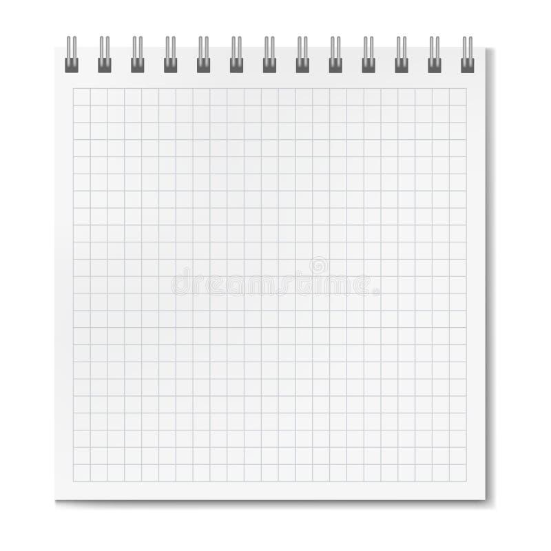 Verticaal realistisch vierkant beslist notitieboekje stock illustratie
