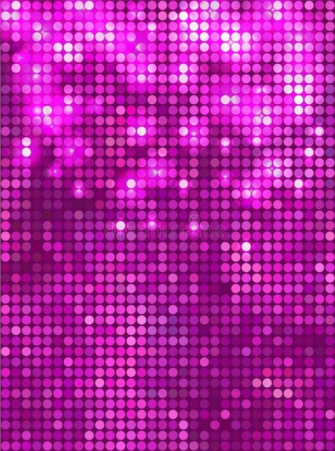 Verticaal roze mozaïek stock illustratie