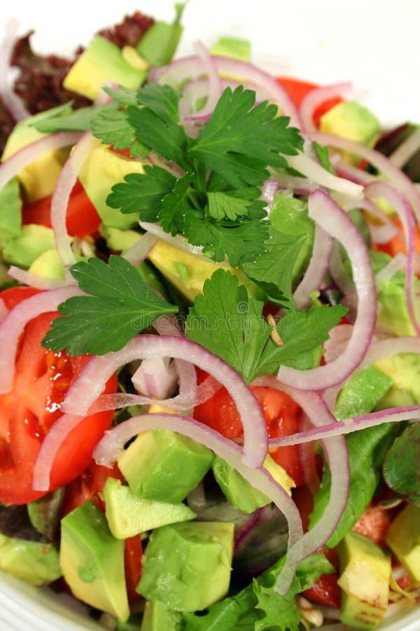 Verticaal van een Geworpen Salade stock fotografie