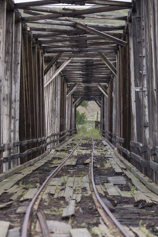 Vertical abandonado da ponte do trem imagens de stock royalty free