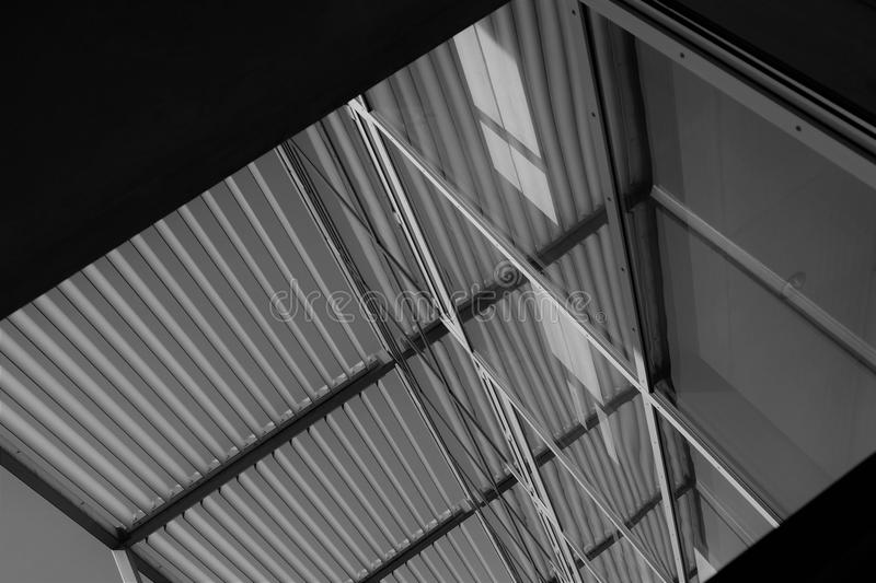 Vertical abstract architecture. The picture shows a architectural building from an unused angle royalty free stock photo