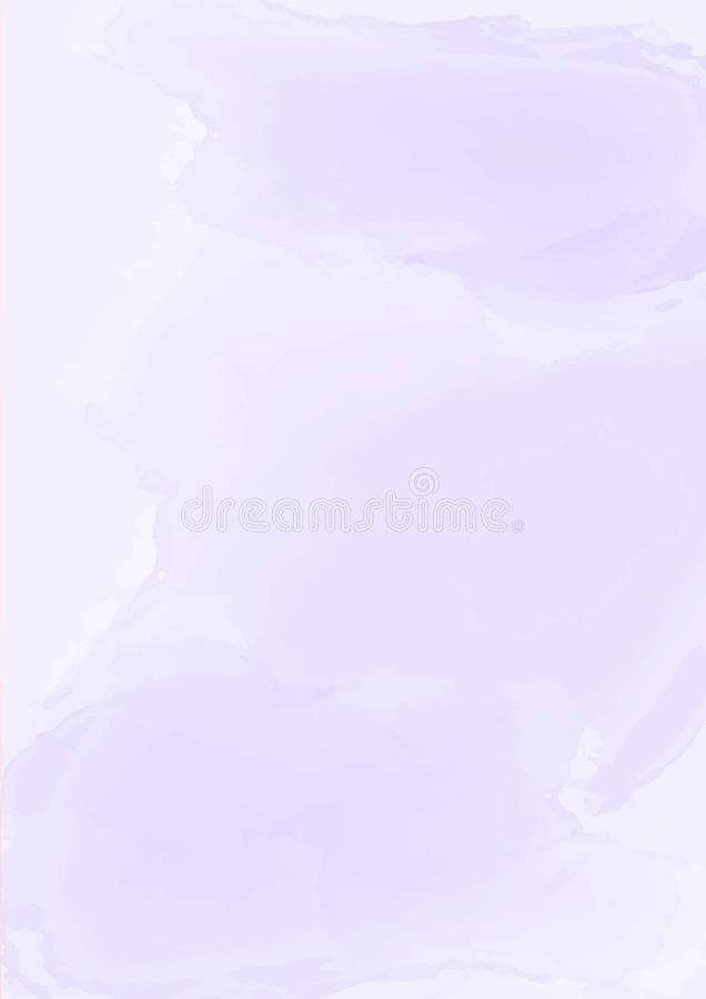 Vertical abstract pastel purple watercolor paper background vector illustration