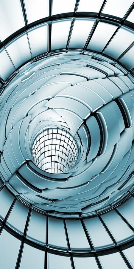Vertical abstrato do fundo da tecnologia do túnel ilustração do vetor