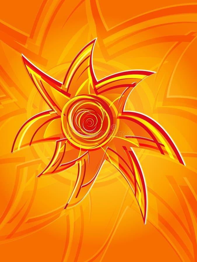 Vertical abstrato do sol 2 ilustração do vetor