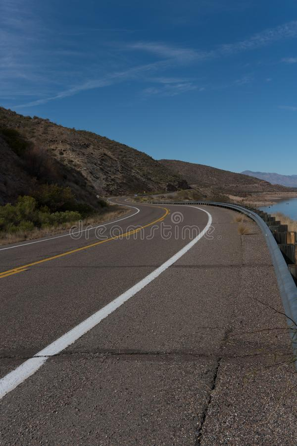 Vertical of Arizona highway 188. royalty free stock image