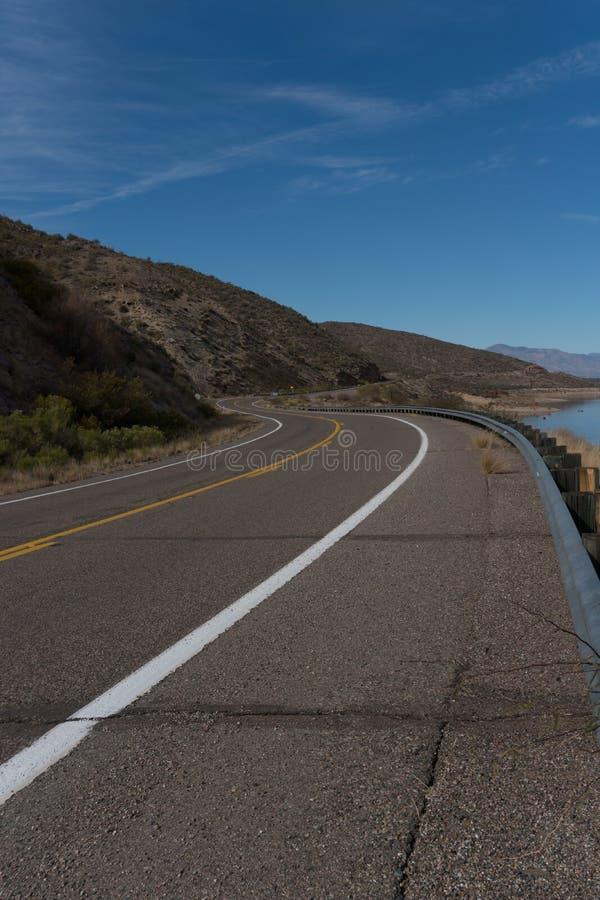 Vertical of Arizona highway 188. royalty free stock image