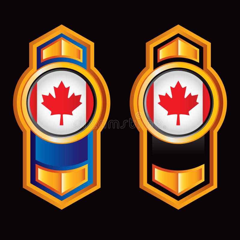 Download Vertical Arrow With Canadian Flag Stock Vector - Image: 12106020