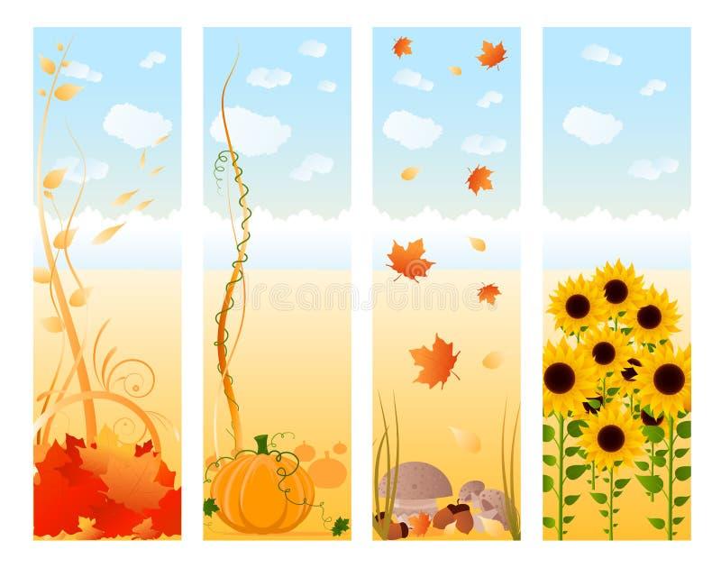Vertical Autumn Banners Stock Photos