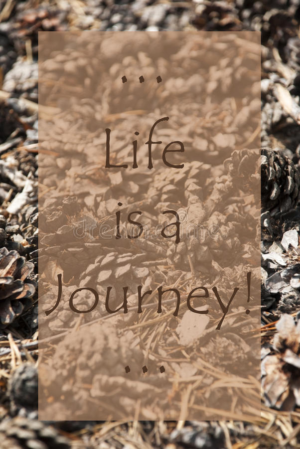 Download Vertical Autumn Card, Quote Life Is A Journey Stock Photo   Image  Of Fall