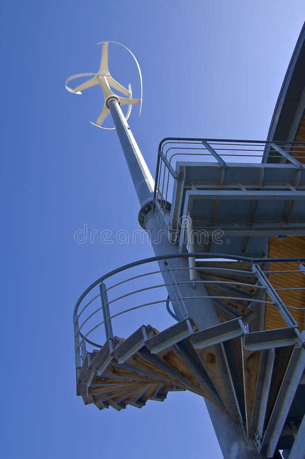 Vertical axis turbine royalty free stock image