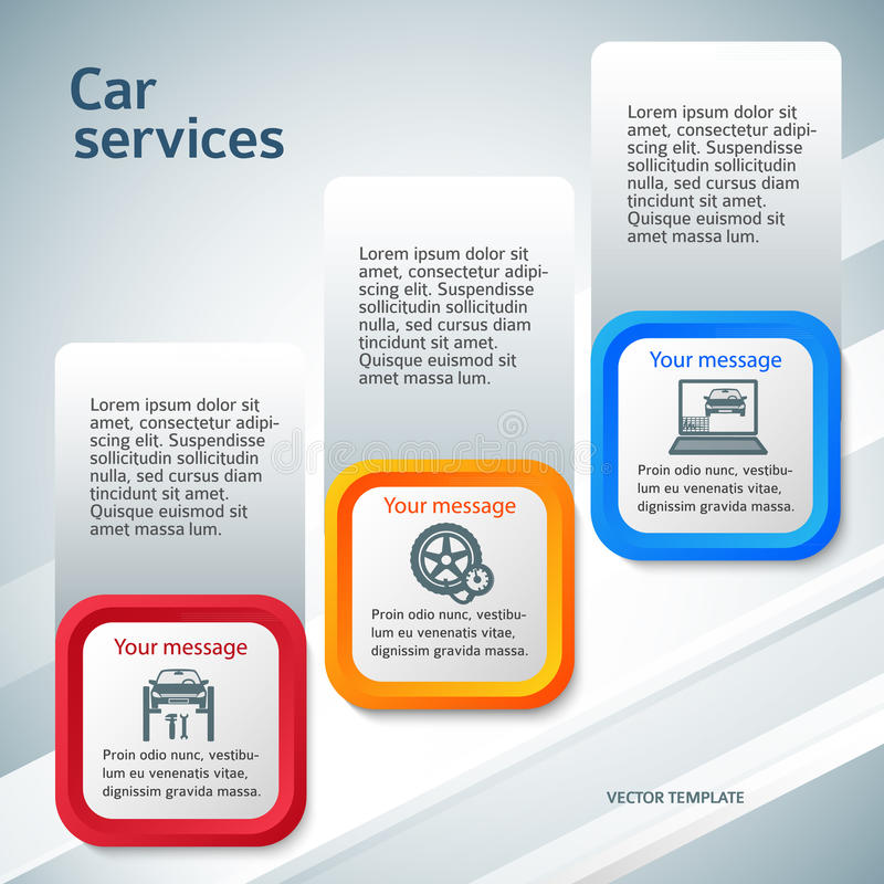 vertical banner auto service page flyer background royalty free illustration