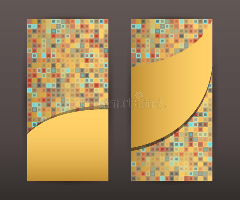 Vertical banner brochure cover page front and back set02 vector illustration