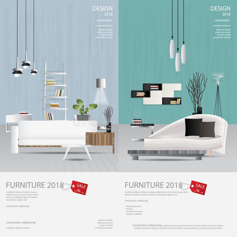 Download 2 Vertical Banner Furniture Sale Design Template Stock  Illustration   Illustration Of Illustration, Household