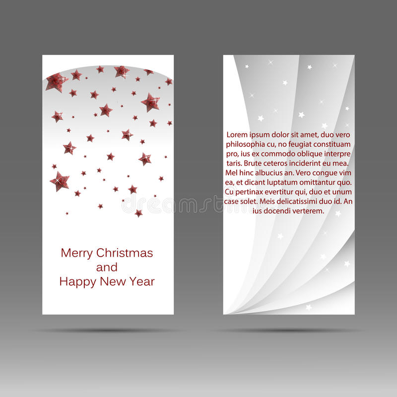 Vertical banner with the image of ruby stars. Illustration stock illustration
