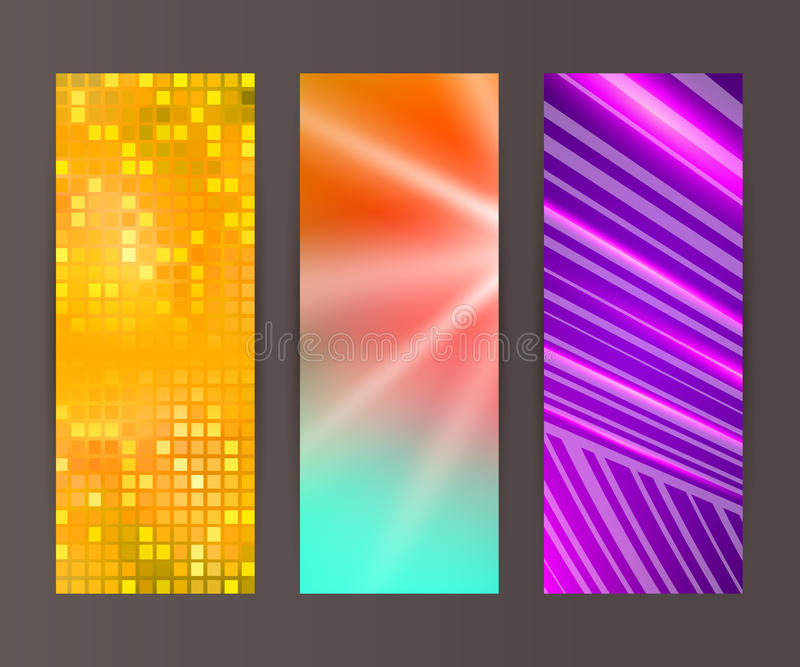 Vertical banner set design element background glow abstract vector illustration