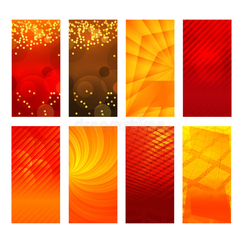 Vertical banner set design element background glow abstract stock illustration