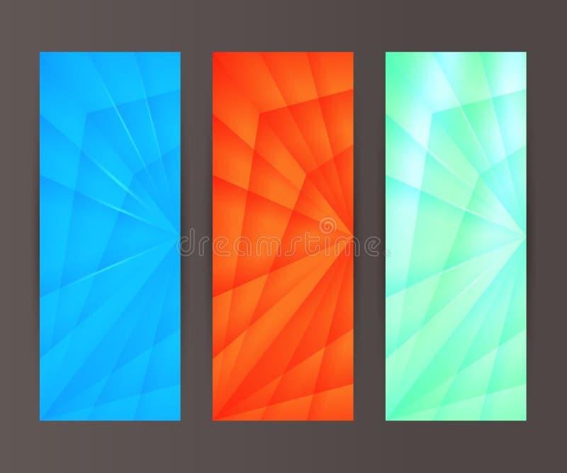 Vertical banner set design element background glow abstract shape42 vector illustration