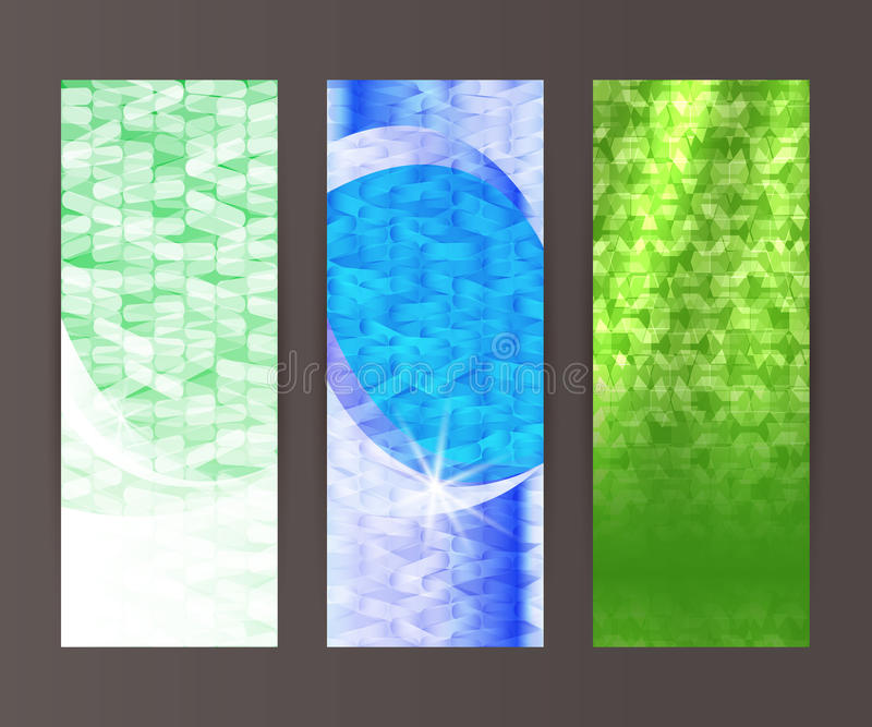 Vertical banner set design element background glow abstract shape45 royalty free illustration