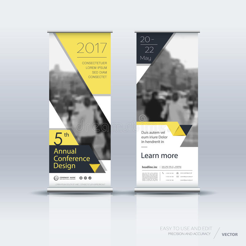 Vertical banner template design stock illustration